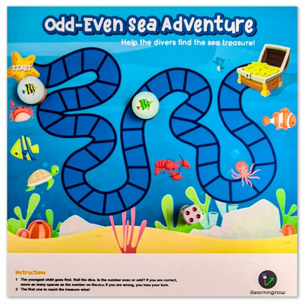 Odd Even Sea Adventure Board Game