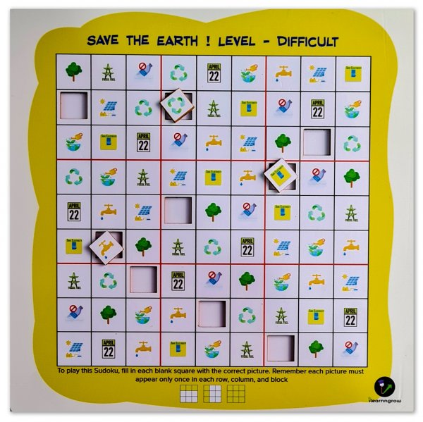 Save The Earth Sudoku Difficult