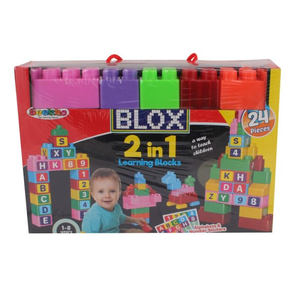 TTOYS Playing and Learning Game Blox 2 in 1 Block Game for Kids