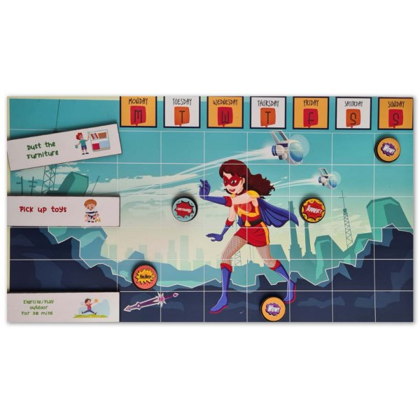 Magnetic Chore Chart SUPERWOMAN