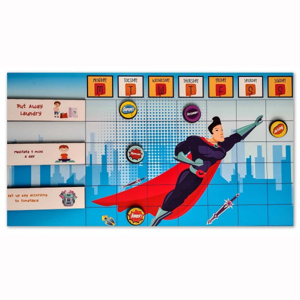 Magnetic Chore Chart SUPERMAN