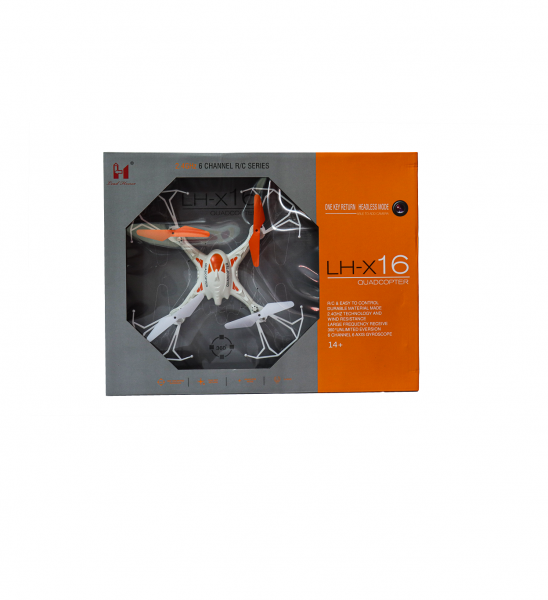 Premium Flying Quadcopter Helicopter Drone Toy for Kids - Drone 2.4Ghz 6 Channel Axis Gyroscope R/C Series LH-X16 Drone (Orange and White)