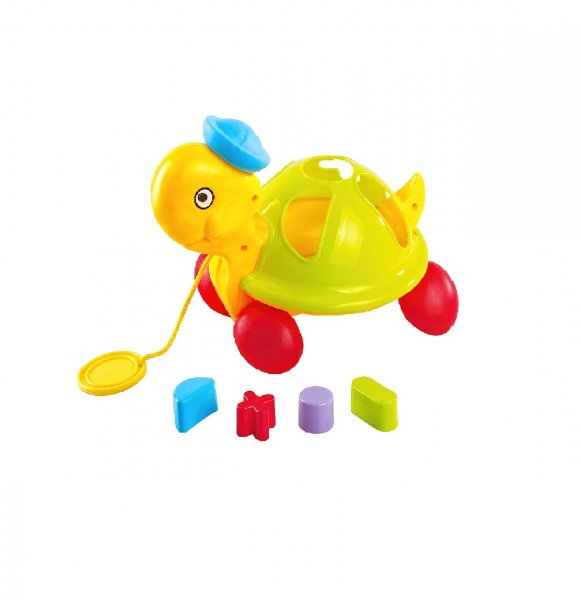 Little's Pull Along Shape Sorting Tortoise, Multi Color