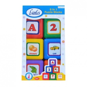 LITTLE'S 6 IN 1 Puzzle Blocks
