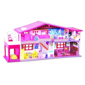 Toyzone My Deluxe Doll House/Play Set for Girls (50 Pcs) -Multicolour