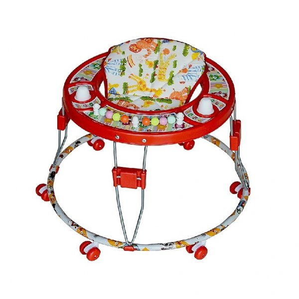 Toyzone Round Baby Walker - Red