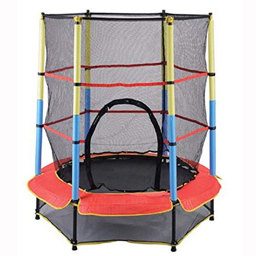TTOYS  Jumping Trampoline for Kids/Adults 54 inch with Metal Springs, Safety Net & Padded Cover for Indoor/Outdoor