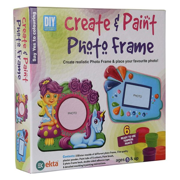 ekta create & paint photo frame- Multi color