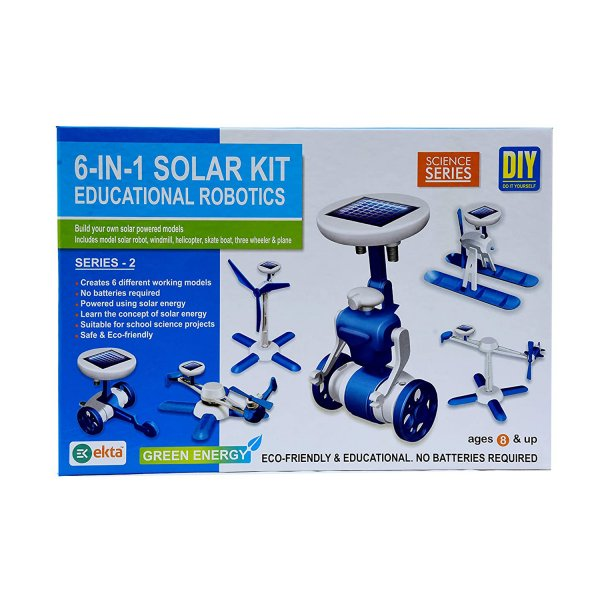 Ekta 6 in 1 Solar Kit Series 1, Multi Color